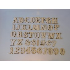 "5"" Layout Letter Set Western"