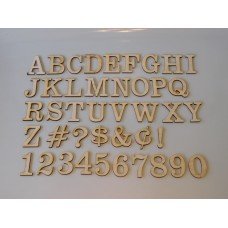 "6"" Layout Letter Set Clarendon"