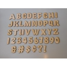 "1""  Individual Fatty Font Layout Letters & Numbers"