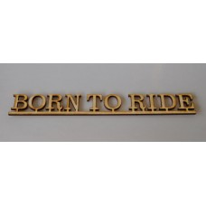 Born To Ride  Layout Letter Template - Clarendon