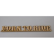 Born To Ride  Layout Letter Template - Western