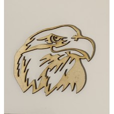 Patriotic Eagle Head Layout Template