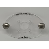 Acrylic Router base plate for the Harbor Freight Bauer Model # 19121E-B