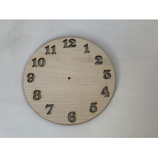 """12"""" Clock Layout Template"""