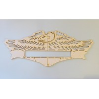 "Live To Ride Layout Pattern SMALL 9.75""x 4"" (Laser Cut)"
