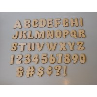 "1.5"" Fatty Font Layout Letter & Number Set"