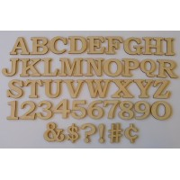 1/2 Inch Bookman Font Letter/Number Set