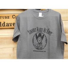 Dark Gray Gildan T-Shirt (Large)