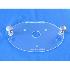 Acrylic Router Base Plate for Hitachi KM12VC