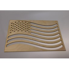 Large American Flag Layout Template