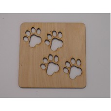 Puppy Paw Layout Template