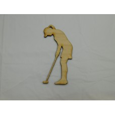 Female Golfer Layout Template