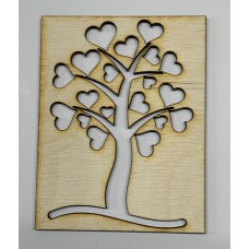 Love Grows Tree/Hearts Layout Template