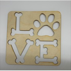 Puppy Paw Love Layout Template