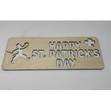 Happy St. Patrick's Day Stencil Layout Template