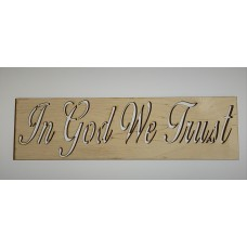 IN GOD WE TRUST Layout Template