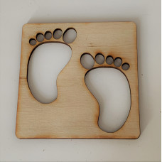 Baby Feet Layout Template